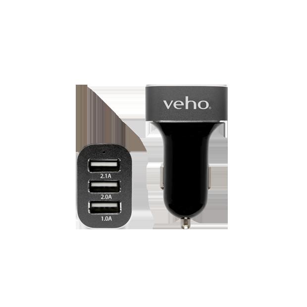 triple usb 5v 5 1a car charger veho rh veho world com